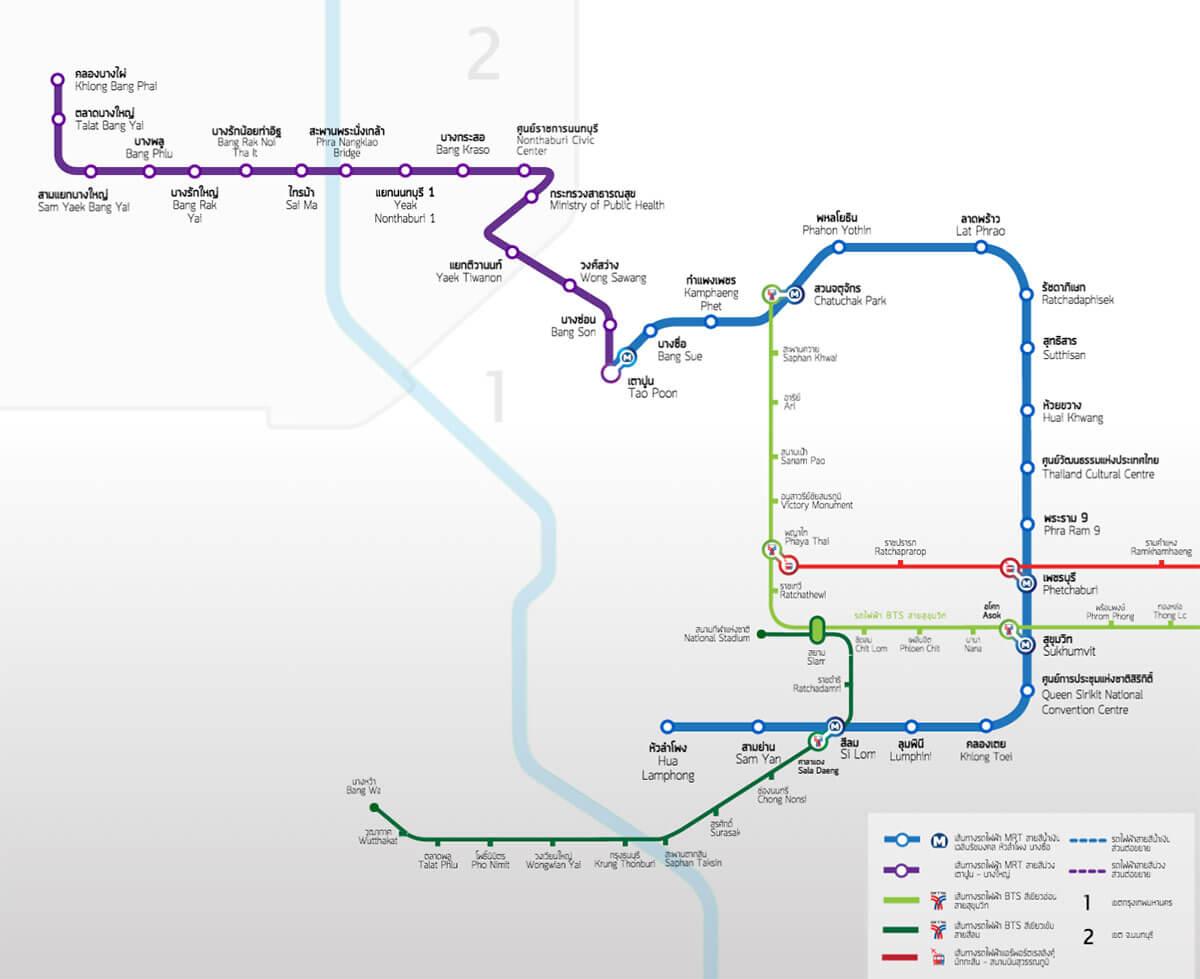 Bangkok Metro MRT Thai 2 Siam