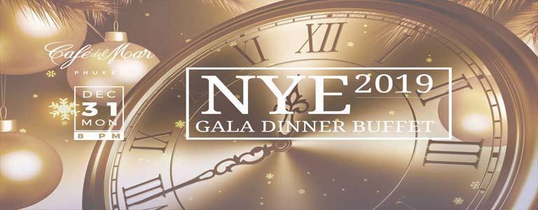 NYE 2019 Gala Dinner Buffet at Cafe del Mar Phuket