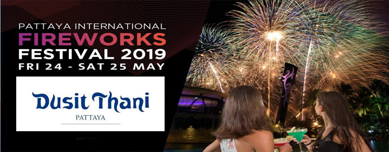 Pattaya International Fireworks Buffet at Dusit Thani Pattaya
