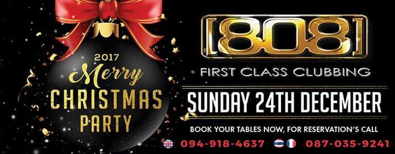 Christmas Party at 808 Club Pattaya