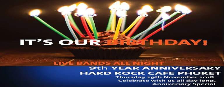 Hard Rock Cafe Phuket 9th year Anniversary