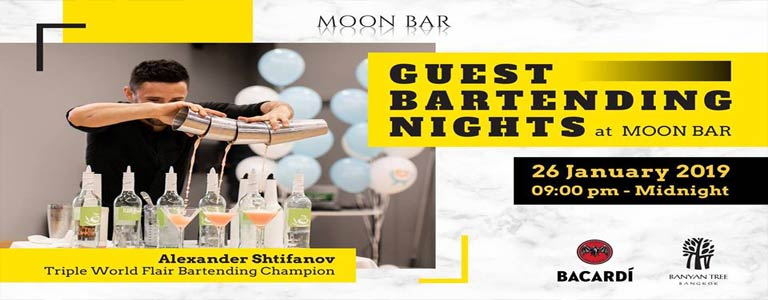 Triple World Flair Bartending Champion at Moon Bar