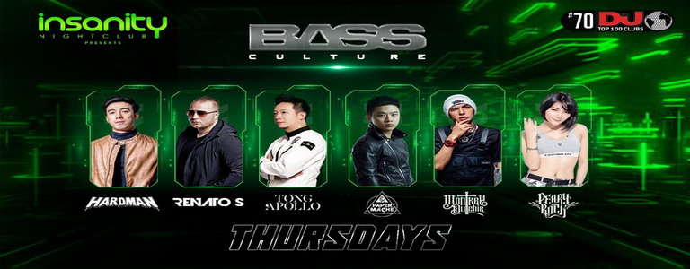 "Insanity Nightclub presents ""Bass Culture Thursdays"""