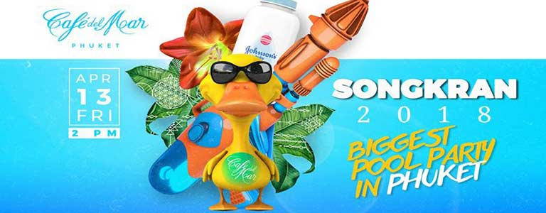 Songkran 2018 Biggest Pool Party at Cafe del Mar