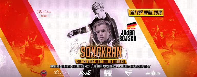 Songkran w/ Jaden Bojsen at The Club Khaosan