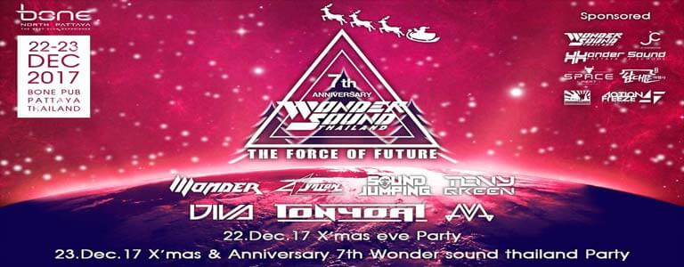 Bone Club Pattaya presents Christmas Eve Party and 7th Anniversary Wonder Sound