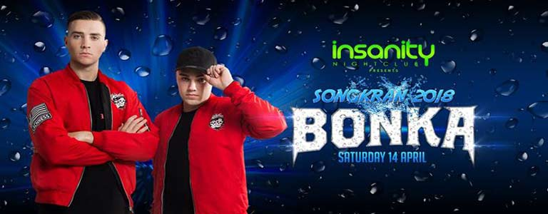 Songkran 2018 with BONKA at Insanity Nightclub