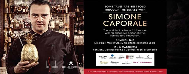 Mixologist Masterclass with Simone Caporale