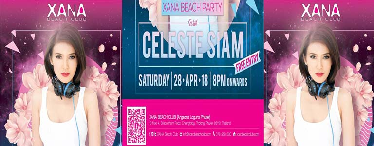 XANA BEACH PARTY with Celeste Siam