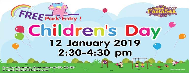 Free Park Entry Children's Day Celebration at Phuket FantaSea