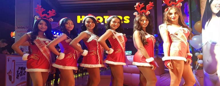 Hooters Pattaya presents Christmas Party