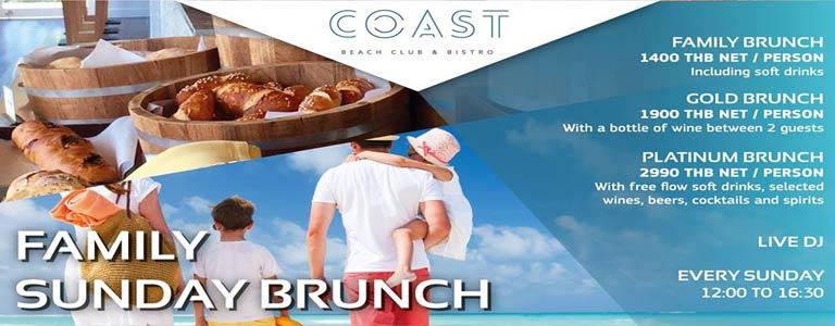 Family Sunday Brunch at COAST Beach Club & Bistro