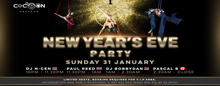 New Year's Eve Party at Cocoon Pattaya