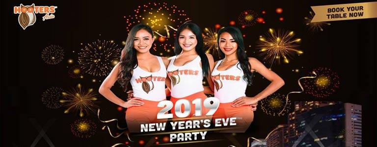 NYE 2019 Countdown Party at Hooters Phuket