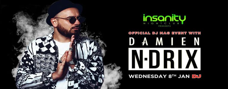 Official DJ Mag event with Damien N-Drix