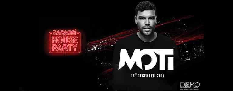Bacardi House Party presents MOTi at DEMO- Saturday 16 December at 21:00