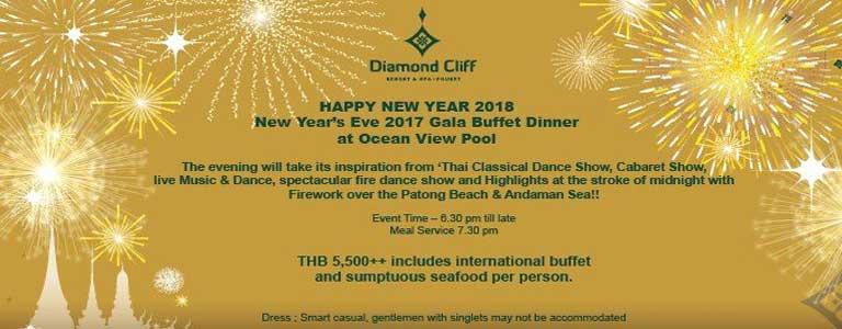 New Year's Eve Gala Dinner Buffet at Diamond Cliff Resort & Spa Phuket