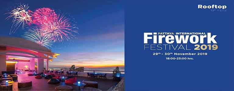 Pattaya International Firework Festival 2019 at Centara Grand Mirage