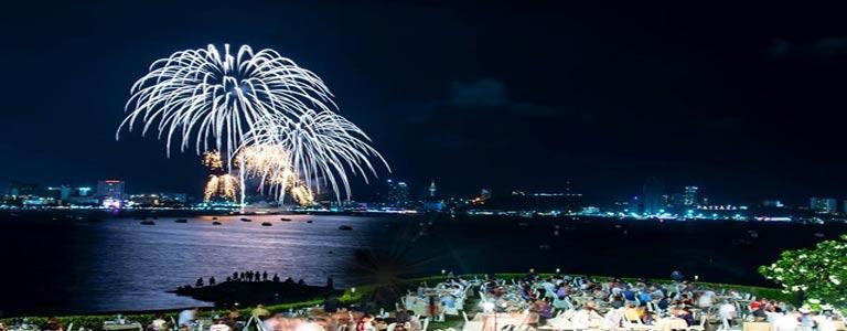 Pattaya International Fireworks Buffet at Dusit Thani