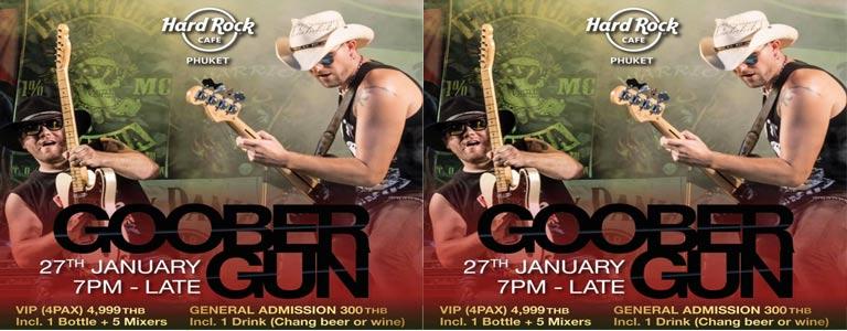 Goober Gun Concert at Hard Rock Cafe Phuket