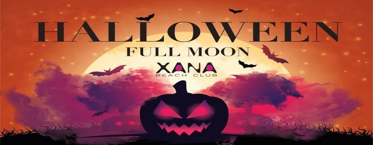 Halloween Full Moon on the Beach at Xana