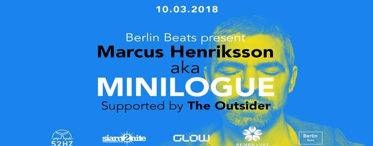 Berlin Beats present Marcus Henriksson aka Minilogue at Glow