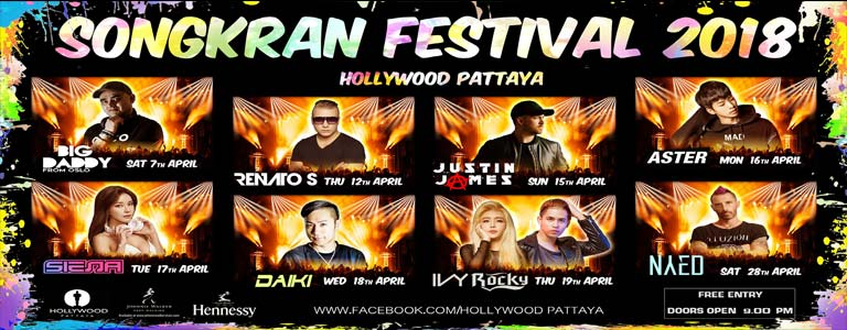 Songkran Festival 2018 at Hollywood Pattaya