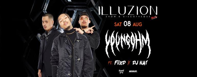 Youngohm feat Fiixd & DJ Nat at Illuzion