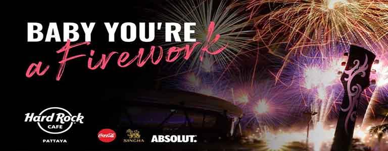 Pattaya International Fireworks Festival 2019 at Hard Rock
