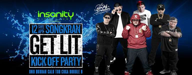 Songkran 2018 Get Lit Kick Off Party Bangkok Invaders
