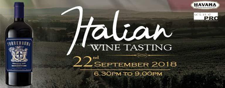 Italian Wine Tasting at Havana Bar & Terrazzo Restaurant
