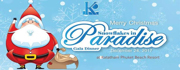 Christmas Eve Gala Dinner at Katathani Beach Resort Phuket