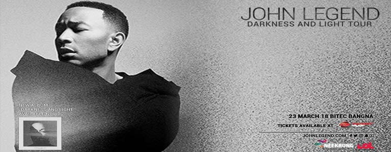 John Legend Darkness and Light Tour First Time Live in Bkk