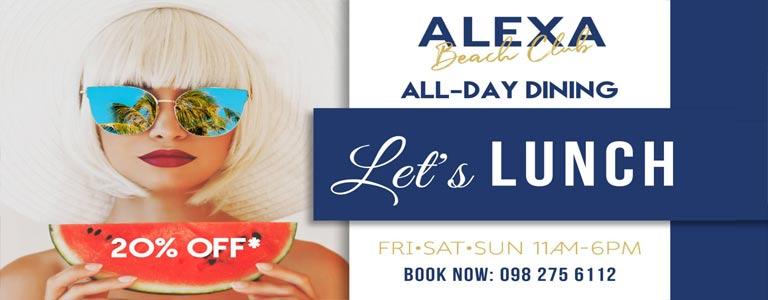 Let's Lunch | Alexa Beach Club Pattaya