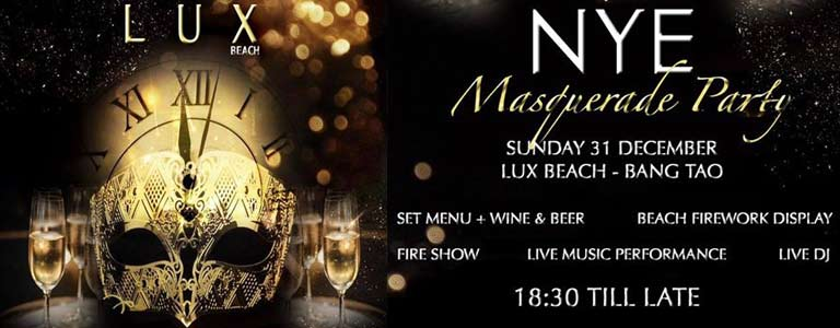 New Year Masquerade Party at LUX Beach Club