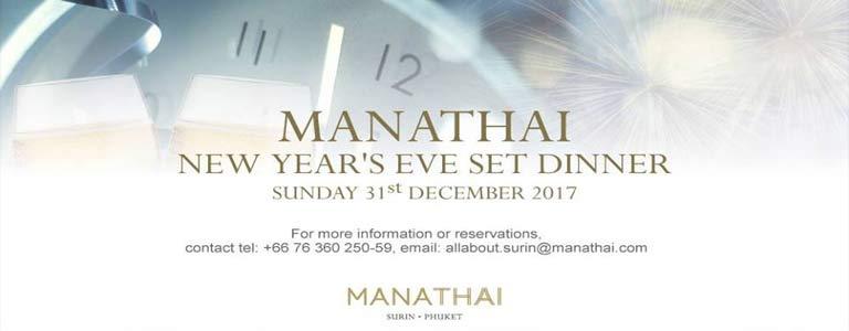 New Year's Eve Set Dinner at Manathai Surin Phuket