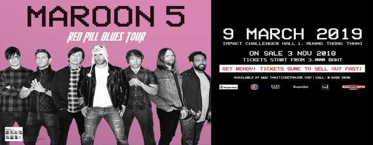 Maroon 5: Red Pill Blues Tour in Bangkok