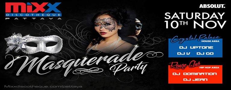 Masquerade Party at Mixx Discotheque Pattaya