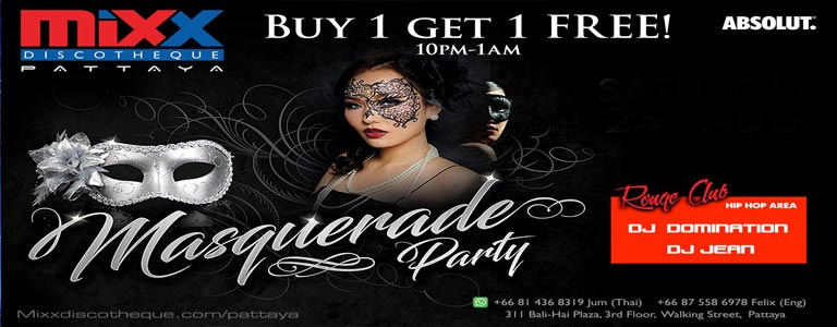 Mixx Pattaya presents Masquerade Party
