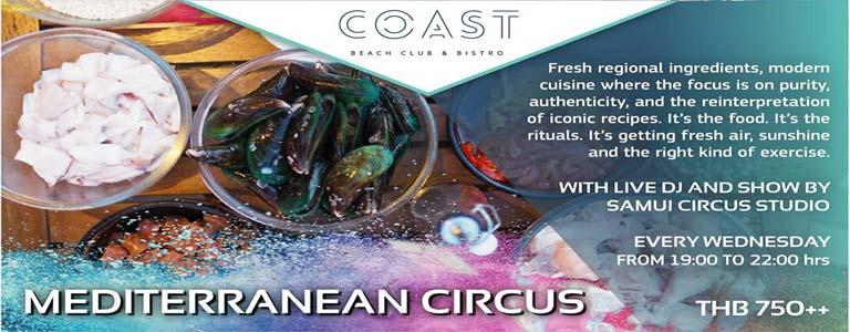 Mediterranean Circus at COAST Beach Club & Bistro