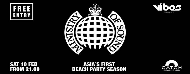 Ministry of Sound Hosted by VIBES Phuket at Catch Beach Club Phuket