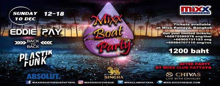Mixx Boat Party 2017 - Mixx Discotheque Pattaya