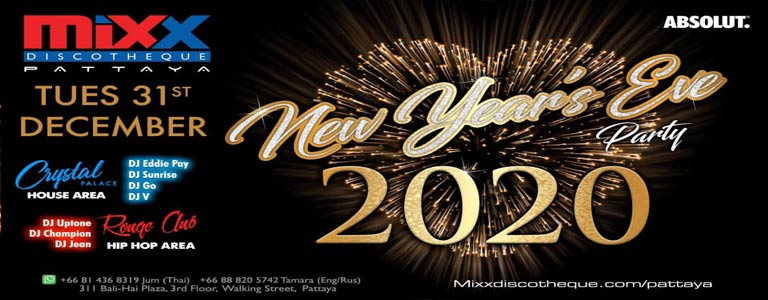 Mixx Pattaya New Years Eve Party 2020
