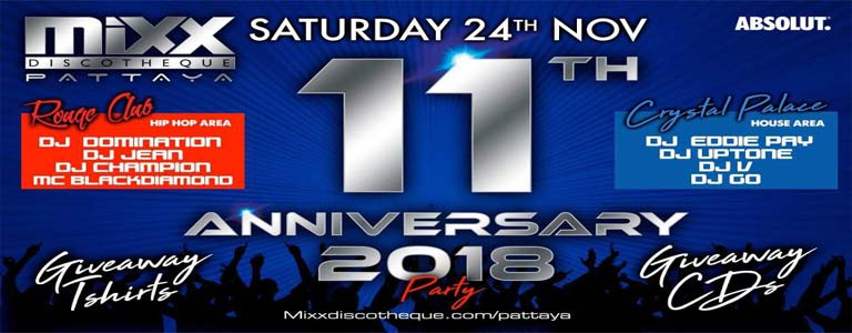 MIXX Pattaya 11th Anniversary Party
