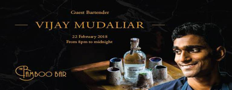 Guest Bartender, Vijay Mudaliar at Mandarin Oriental Bkk