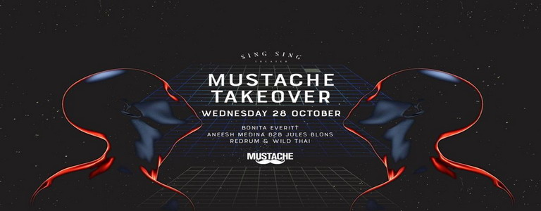 Mustache Takeover at Sing Sing Theater
