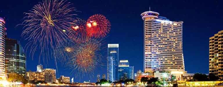 Champagne & Fireworks - New Year's Eve at ThreeSixty Hosted by Millennium Hilton Bangkok