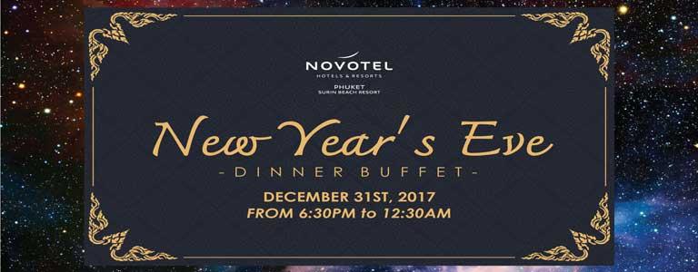 New Year's Eve Dinner Buffet at Novotel Phuket Surin Beach Resort