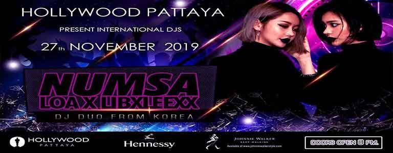 Hollywood Pattaya Present Dj Duo Numsa