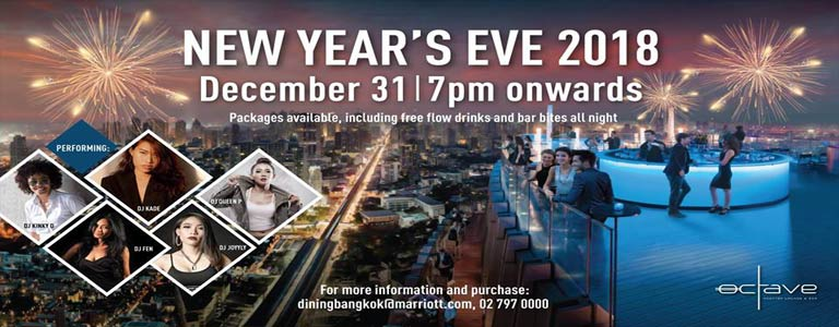 New Year's Eve at Octave Rooftop Lounge & Bar